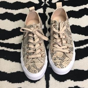 Converse All Star Loop-Ox Snake Print Leather Shoe